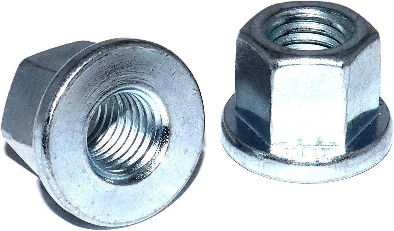 Sechskantmuttern M8 St/ückzahl 20 DIN 6331 Stahl verzinkt hohe Form mit Bund Festigkeit 10 Schraubenmutter hohe Mutter Gewindemuffen Langmuttern Gewindemuttern