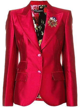 DOLCE E GABBANA - Chaqueta de traje - para mujer rojo Talla de la marca 46: Amazon.es: Ropa y accesorios