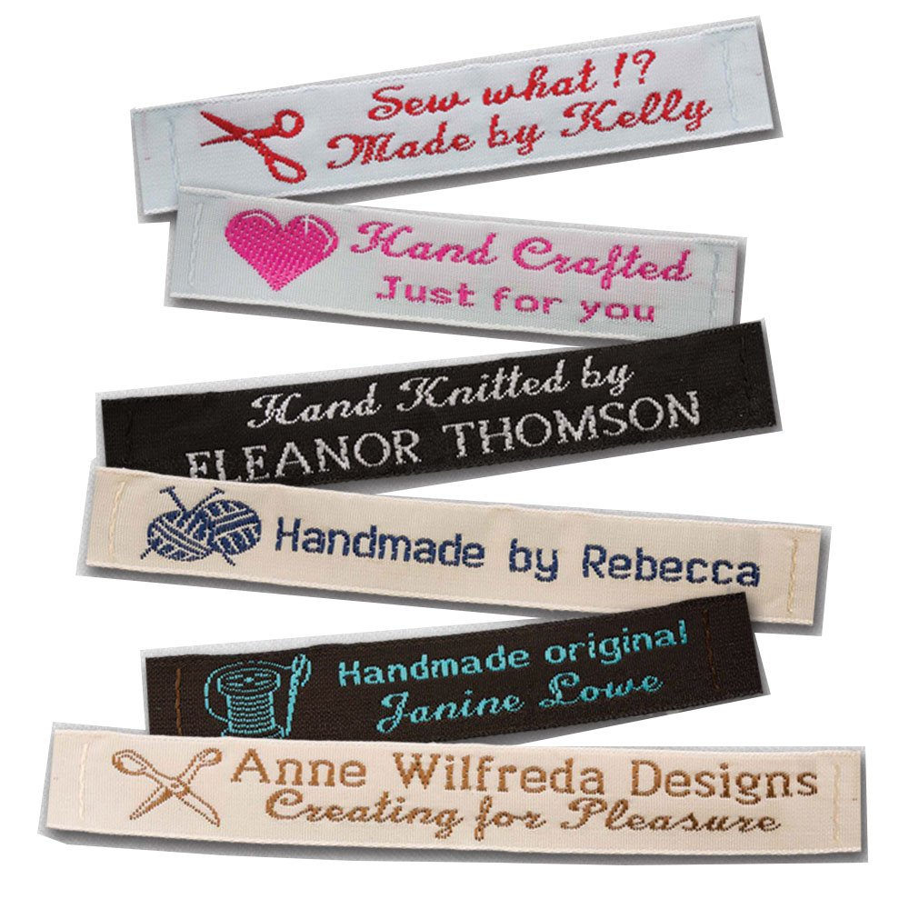 Personalized 100% Woven Sewing Labels 1/2'' Wide (250 Labels)