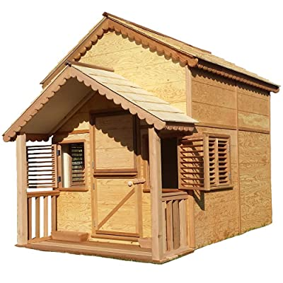 Canadian Playhouse Factory Little Alexandra Cottage with Loft and Covered Front Porch: Toys & Games
