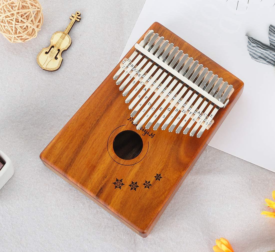 LEMEIYI Kalimba 17 Key with Mahogany,Portable Thumb Piano Mbira Sanza of Wooden Attached Ore Metal Tines with Kalimba Case by Lemeiyi (Image #3)