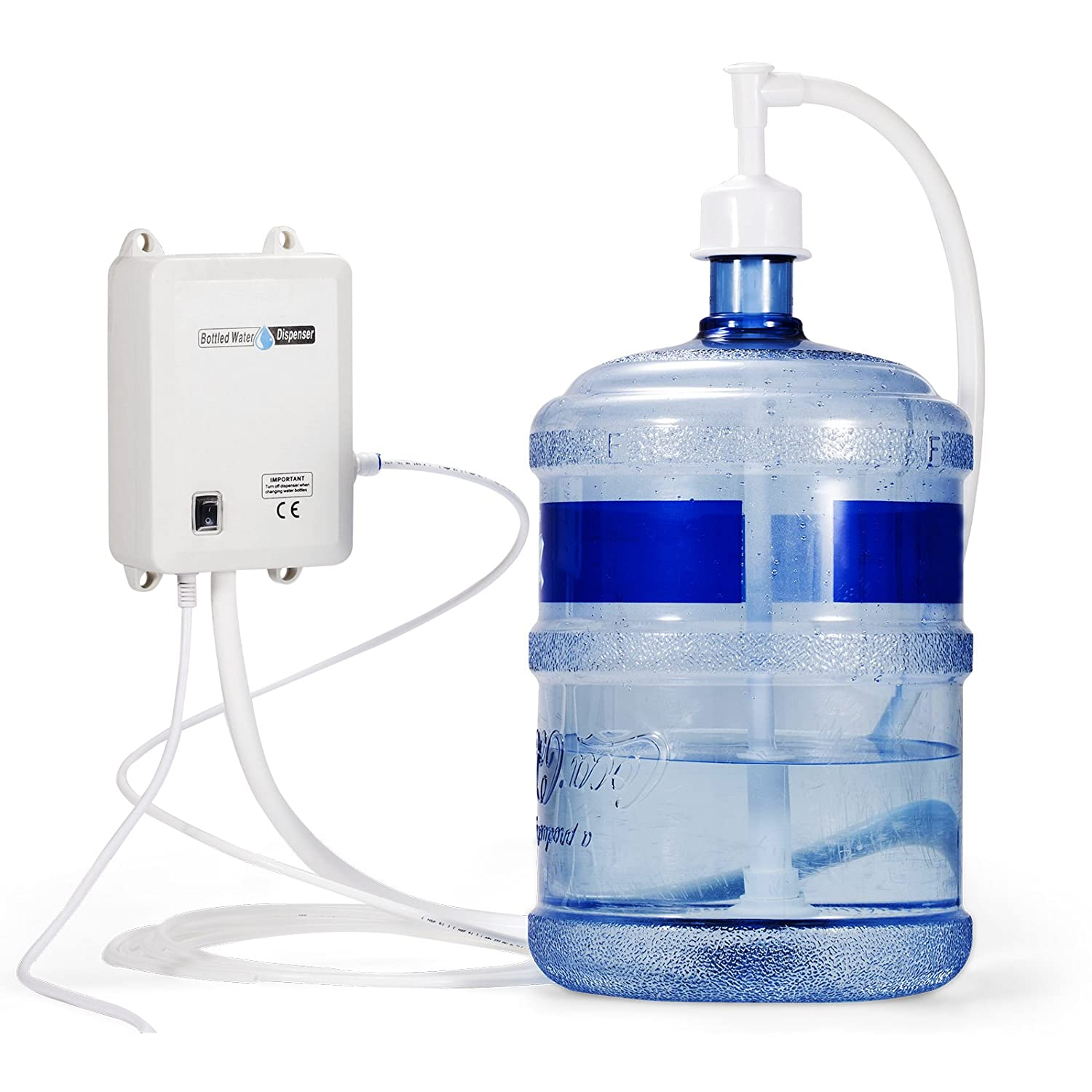 VEVOR Bottled Water Dispensing System 20 ft Water Dispensing Pump System with US Plug 115V AC Perfect for 5 Gallon Bottle (Single Inlet) - - Amazon.com
