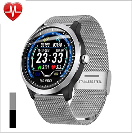 Men's Watches N58 Ecg Ppg Smart Watch With Electrocardiograph Ecg Display Heart Rate Monitor Blood Pressure Mesh Steel Smartwatch Beautiful In Colour Digital Watches