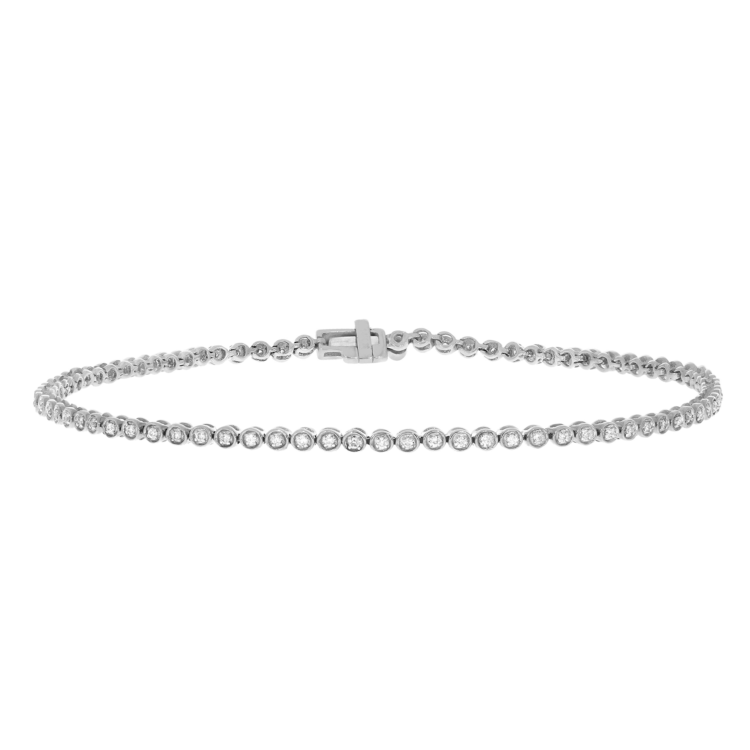 1/4 CTW Round Natural Diamond Ladies Tennis Bracelet Crafted in 10K Solid Gold (white-gold)