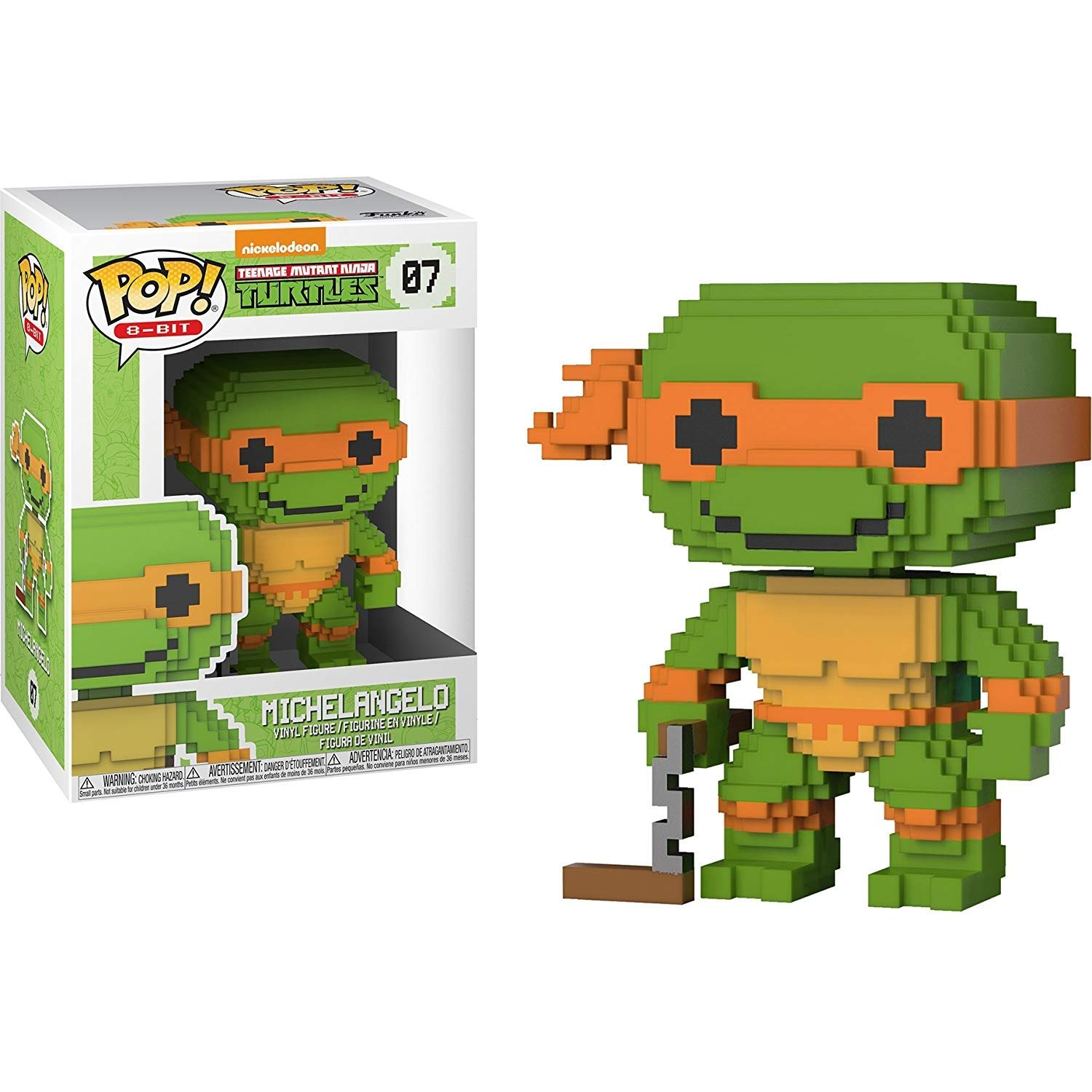 Amazon.com: Michelangelo: Funko POP. 8 bits x teenage mutant ...