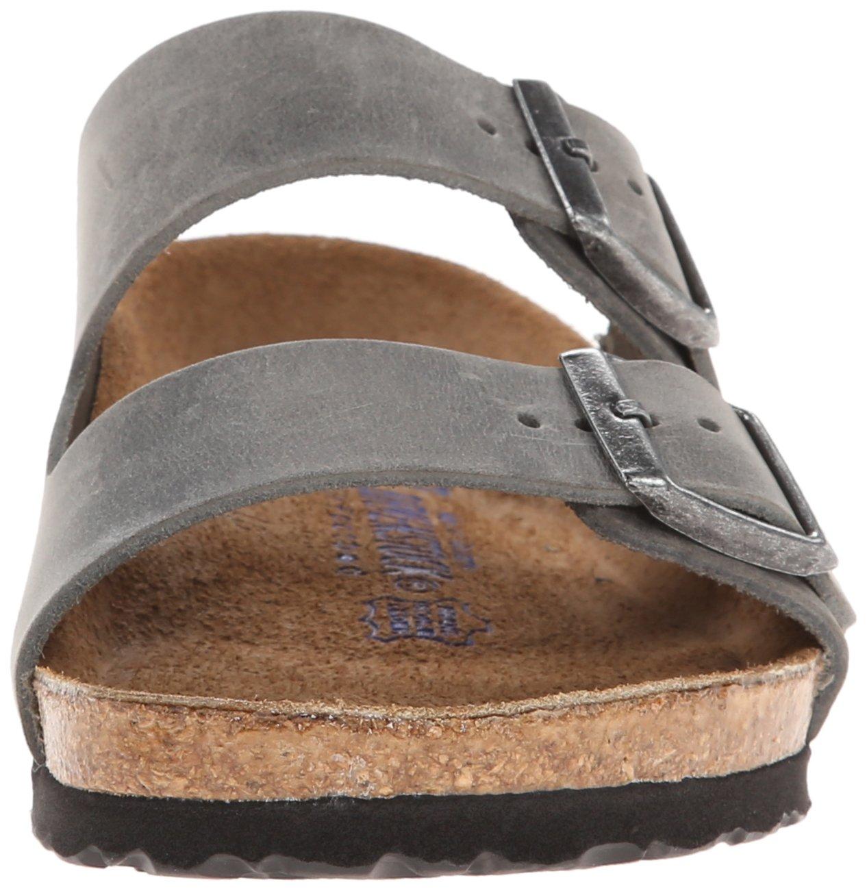Birkenstock Unisex Arizona Iron Oiled Leather Sandals - 45 M EU/12-12.5 B(M) US Men by Birkenstock (Image #4)
