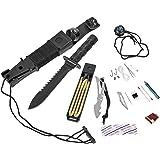 BlackSnake® Survival Knife Gürtelmesser mit Überlebensausrüstung