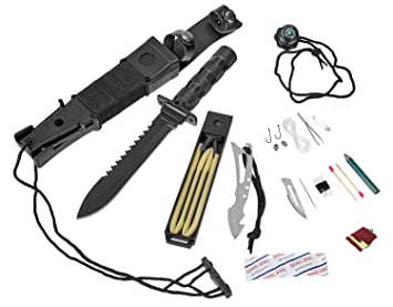 Cuchillo de supervivencia Blacksnake® con funda para ...