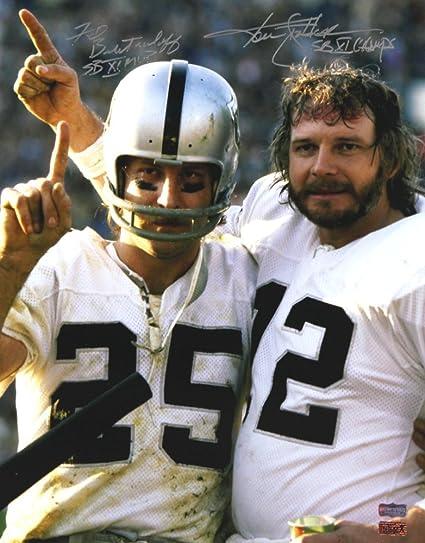 Ken Stabler & Fred Biletnikoff AutographedSigned Oakland Raiders
