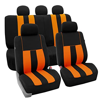 FH Group FB036ORANGE115 Seat Cover (Airbag Compatible and Split Bench Orange): Automotive