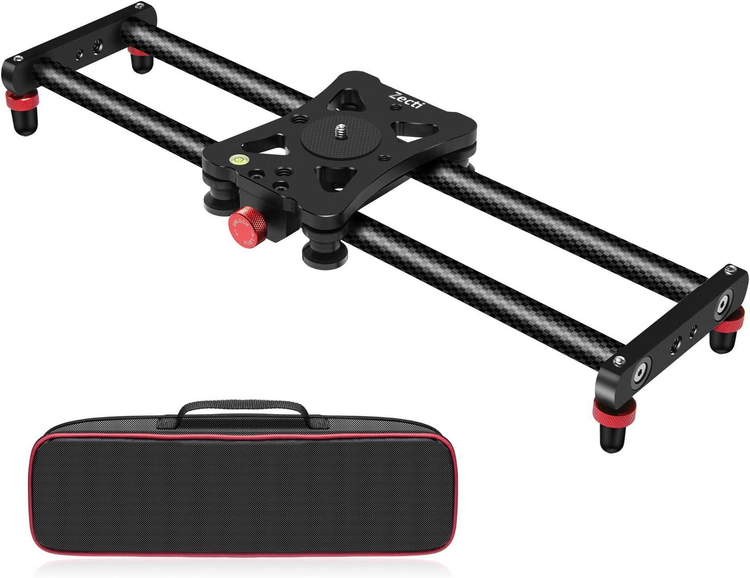 """Zecti Camera Slider, Adjustable Carbon Fiber Camera Dolly Track Slider Video Stabilizer Rail for Camera DSLR Video Movie Photography Camcorder Stabili (15.7"""" Carbon Fiber Camera Slider Dolly Track)"""