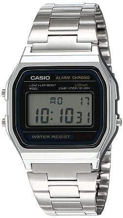 Amazon.com: Casio A158WA-1DF - Reloj digital de acero ...
