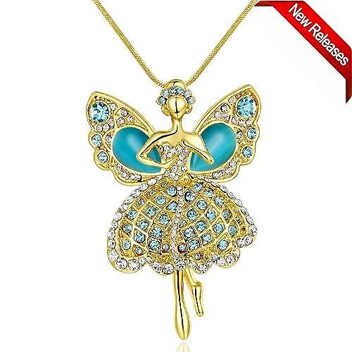 Brand-new Amazon.com: Ballet Dance Pendant Necklace, Little Girl Necklace  KN56