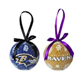 Baltimore Ravens Official NFL LED Box Set Ornaments by Evergreen Enterprises