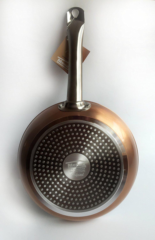 MENAX ROYAL CHEF - Juego de 3 Sartenes de Aluminio Forjado de Alta Calidad con Antiadherente