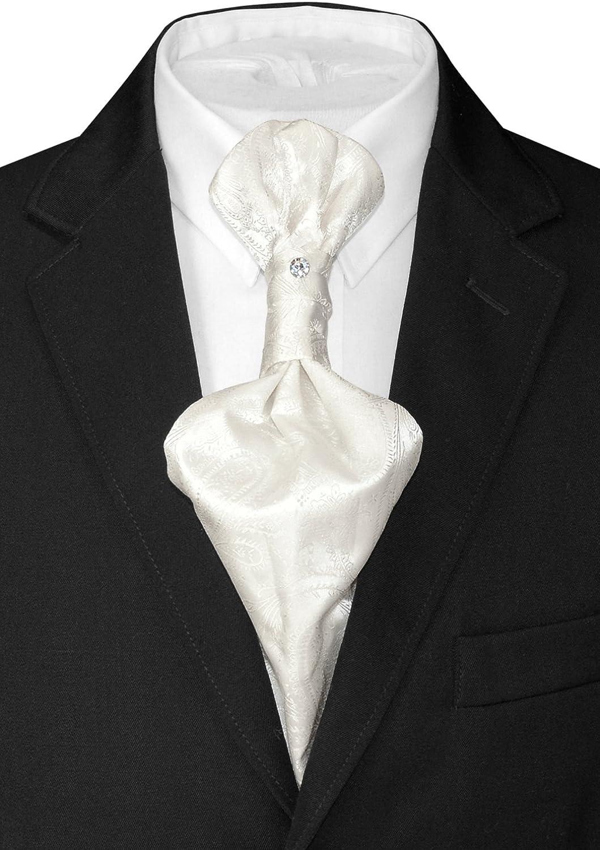 Vesuvio Napoli ASCOT Solid CHARCOAL GREY Color Cravat Dark Gray Mens Neck Tie