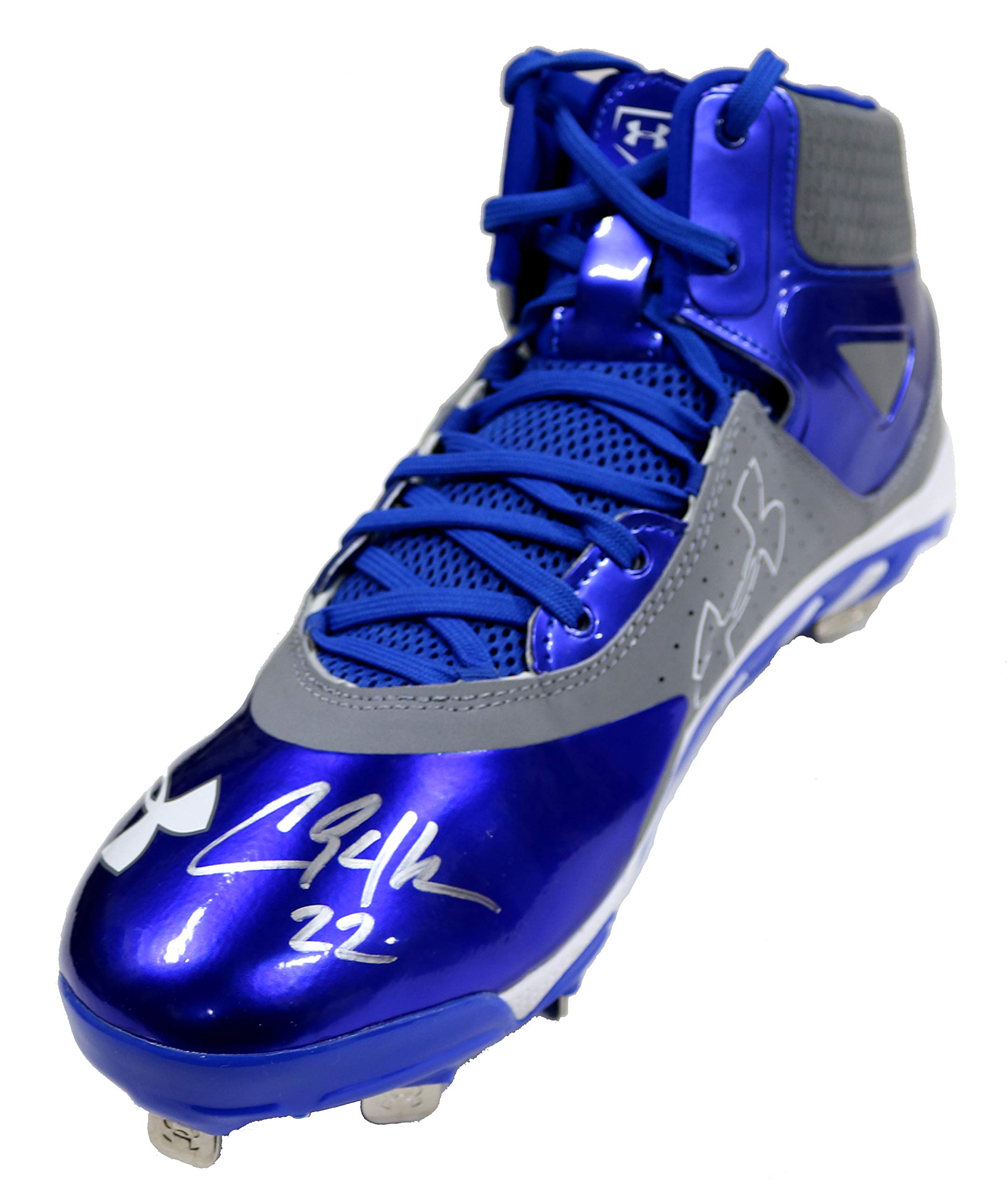Clayton Kershaw Los Angeles Dodgers Signed Autographed Under Armour Baseball Cleat Shoe PAAS COA