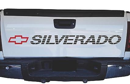 Amazon Com Chevrolet Silverado Bed Sticker Tailgate Decal Chevy