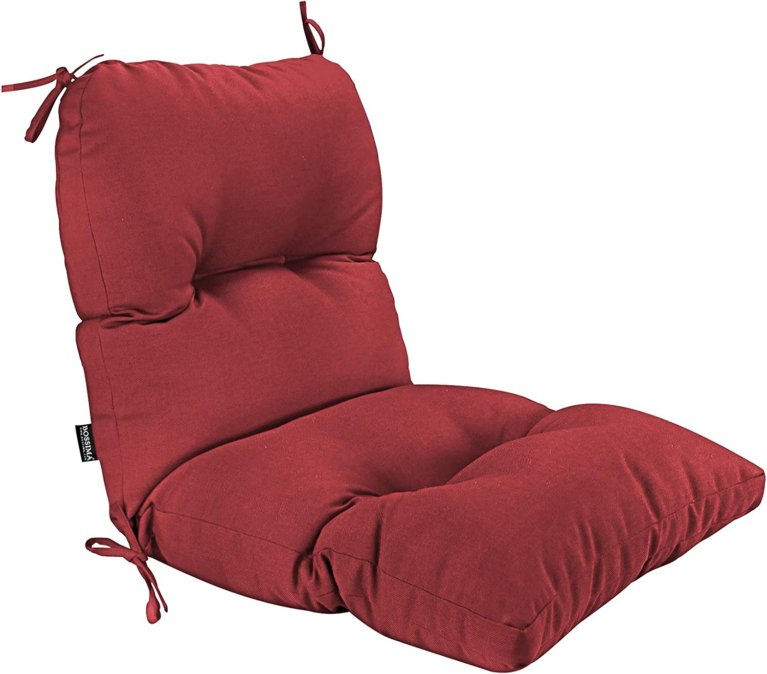 BOSSIMA Outdoor Indoor High Back Chair Tufted Cushions Comfort Replacement Patio Seating Cushions Red