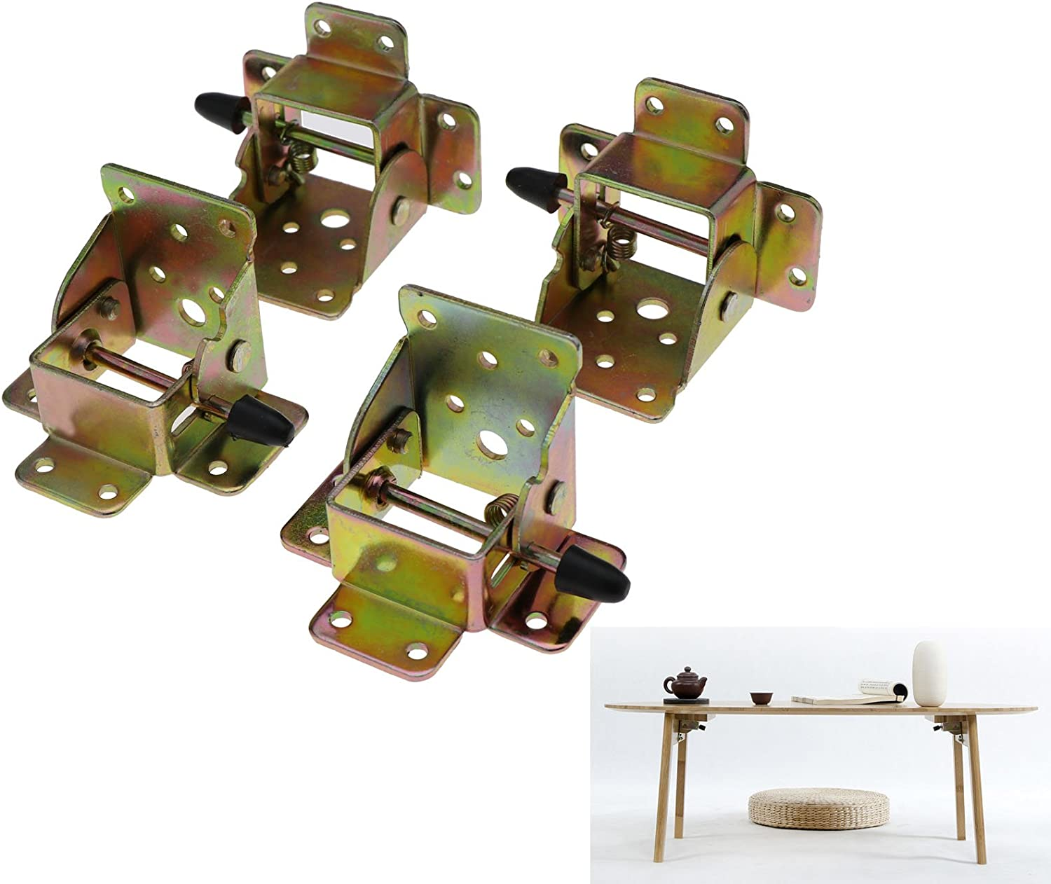 90 Degrees Iron Lock Folding Table And Chair Legs Brackets Foldable Hinge ONE