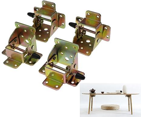 Folding Table Leg Brackets.4x Iron Locking Folding Table Chair Leg Brackets Hinge Self Lock Foldable Hinges