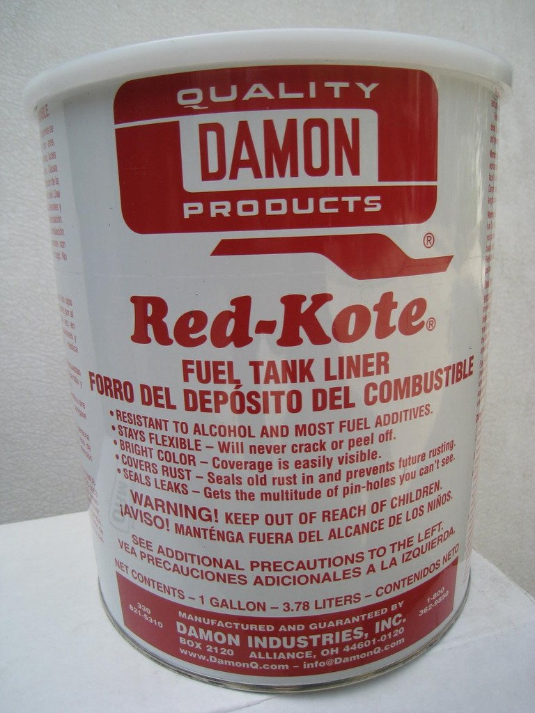 Damon Industries Fuel Tank Liner Coat Sealer Gas Alcohol Diesel (1) Gallon Motorcycle Redkote by Damon Industries