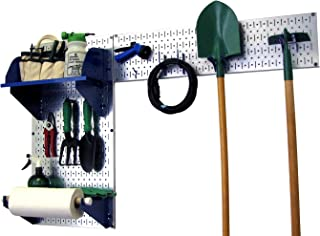 product image for Wall Control Pegboard Garden Supplies Storage and Organization Garden Tool Organizer Kit with Metallic Pegboard and White Accessories