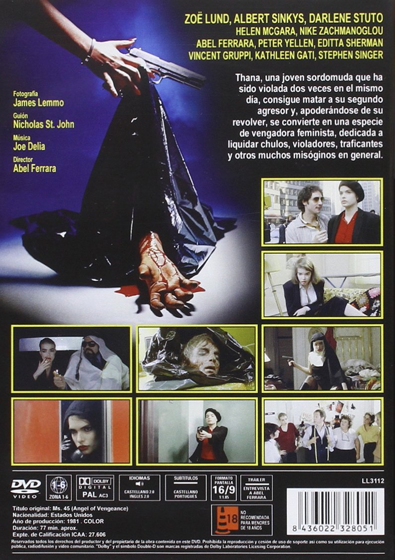 Ángel de venganza (1981) [DVD]: Amazon.es: Zoe Lund, Bogey, Albert ...