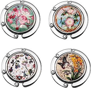 Ecloud Shop Lot De 4 Accroche Pliable Fleur Sac A Main Multicolore 44mm