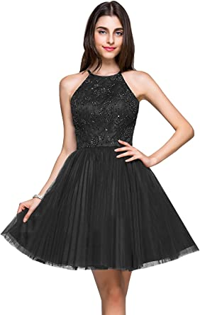 Erosebridal Short Bridesmaid Dress Lace Appliques Beads Evening Dress