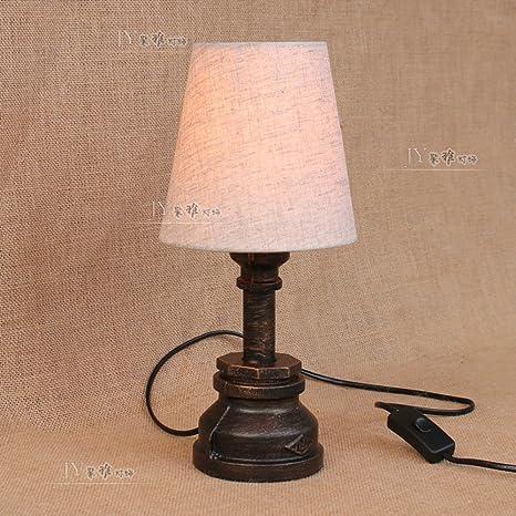 XSPWXN Lámpara de Mesa Tubo de Agua Art Deco Reading lámpara ...