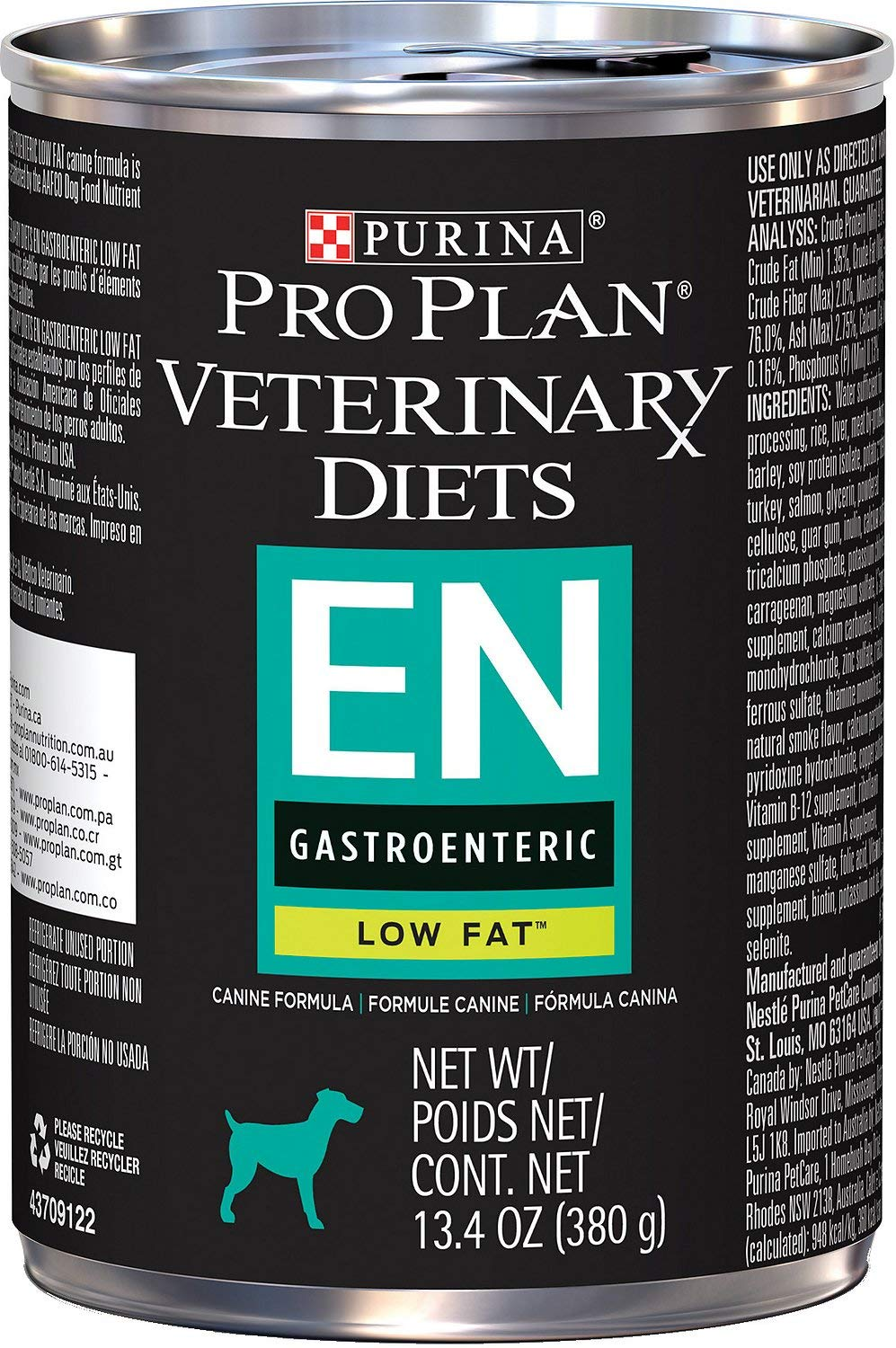 Purina EN Gastroenteric Low Fat Dog Food 12 13.4 oz cans by Purina Pro Plan
