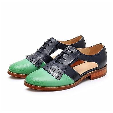 6804075700b68 Amazon.com   Habitaen Genuine Sheepskin Leather Flats Sandals Shoes ...