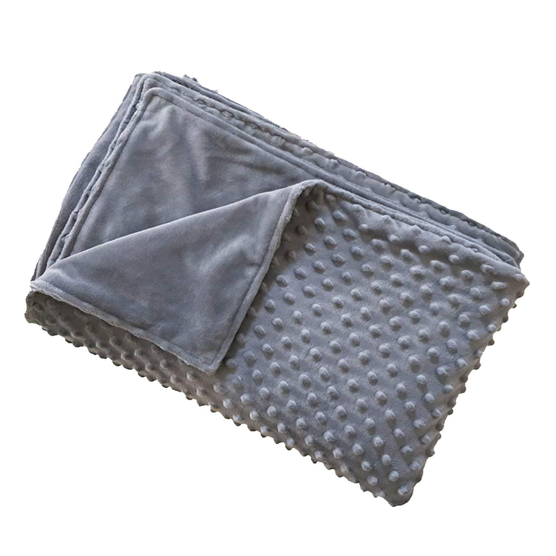 HSBAIS 加重ブランケット用の羽毛カバー、超柔らかいミンキードットの羽毛布団カバー、厚い毛布、取り外し可能、機械洗浄可能,47