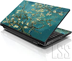 "LSS Laptop 17-17.3"" Skin Cover with Colorful Almond Trees Pattern for HP Dell Lenovo Apple Asus Acer Compaq - Fits 16.5"" 17"" 17.3"" 18.4"" 19"" (2 Wrist Pads Free)"