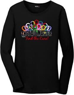 Fight Like a Girl They All Matter Cancer Ribbon Awareness T-Shirt  Long-Sleeved d38a3d2f7068