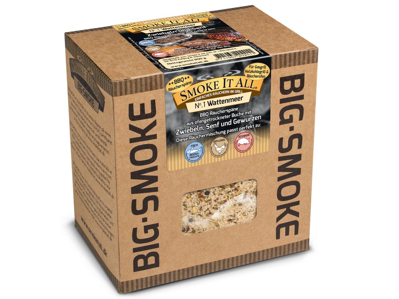 Smoke it All BBQ serrín - Gránulos aromáticos para quemador con Especias. 800 gr. - watten Mar de: Amazon.es: Jardín