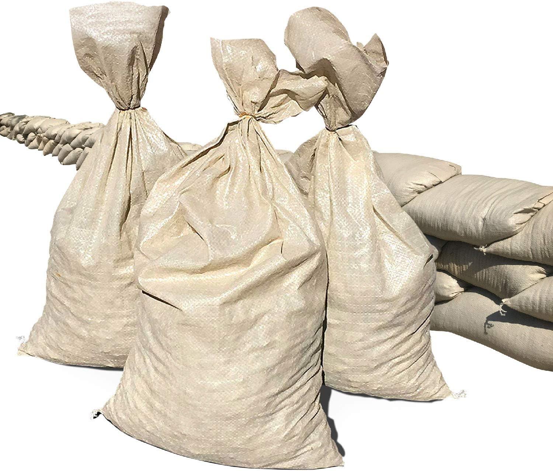 Size: 14 x 26 50 Sandbags Military Grade Color: Beige Sandbaggy Empty Poly Sandbags W//UV Protection