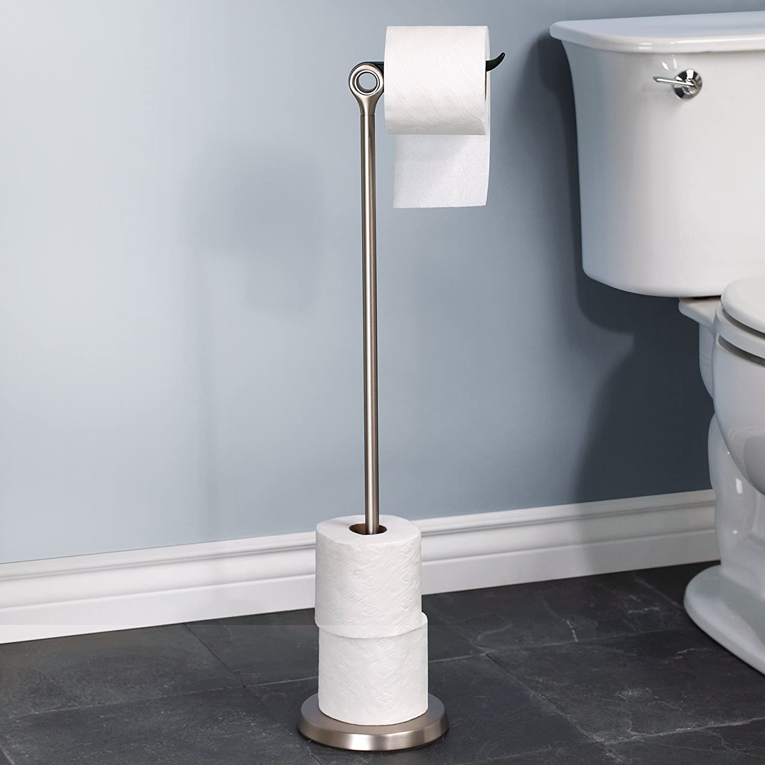 Amazon.com: Umbra Tucan Toilet Paper Stand with Reserve, Brushed ...