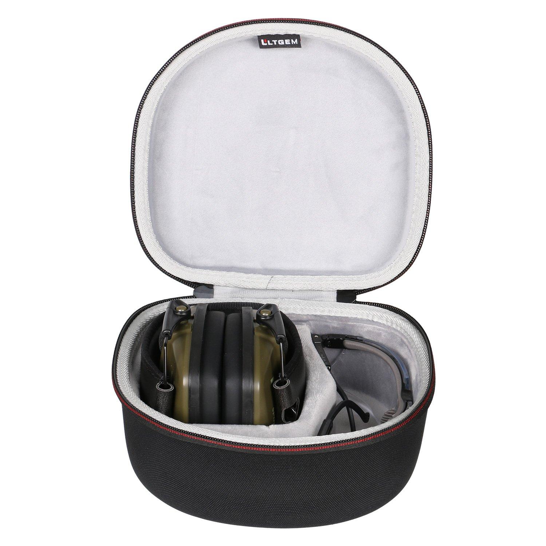 LTGEM Case for both Howard Leight by Honeywell or Awesafe GF01 Impact Sport Earmuff and Genesis Sharp-Shooter Safety Eyewear Glasses (R-03570) - Black