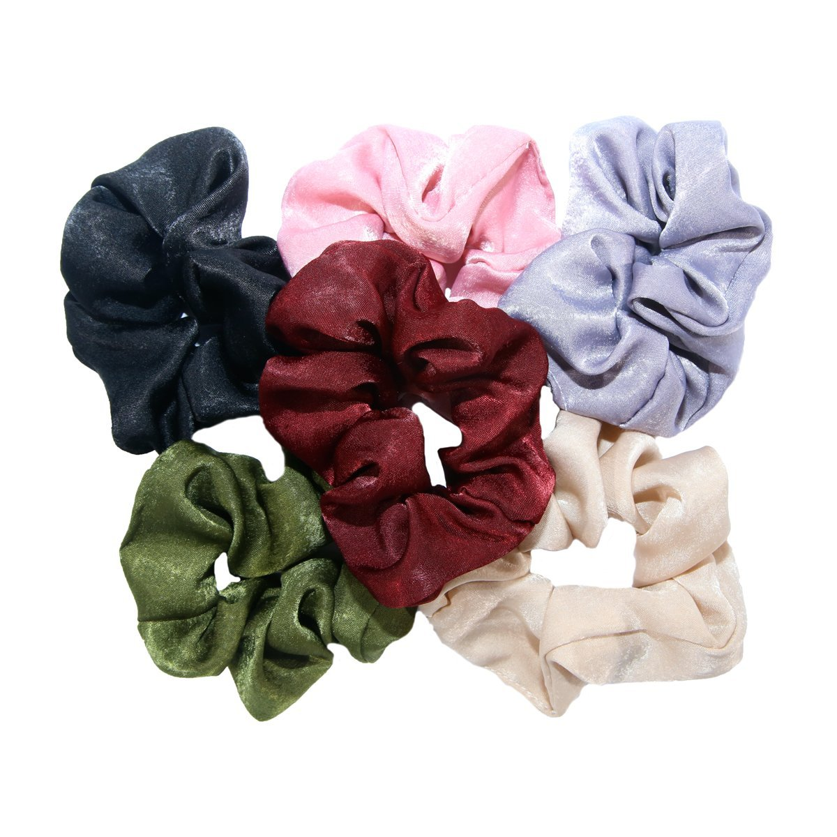 Amazon.com   Womens Hair Ties Bobbles Elastics Bands Velvet Scrunchies  Satin Fabric Hair Ties   Beauty 5dd87291c46
