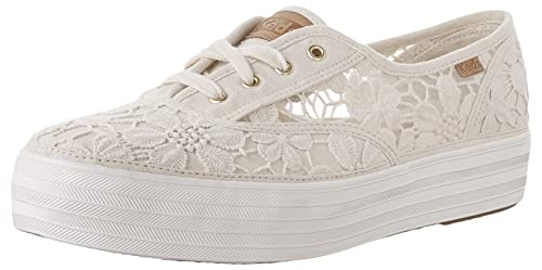 2955269ad Keds Womens Triple Vintage Fabric Low Top Lace Up Fashion