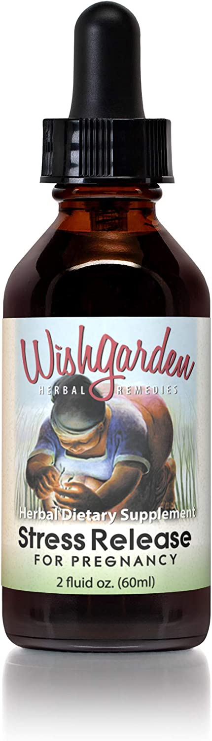 WishGarden Herbs Stress Release for Pregnancy - Natural Herbal Supplement Formulated to Provide Stress Relief and Promote Relaxation for Pregnant Women, 2 Ounce