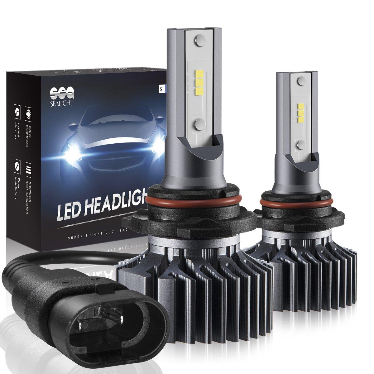 H4/9003/HB2 LED Headlight Bulbs Hi/Lo Beam Conversion Kit, DOT Approved, SEALIGHT S1 series Super Bright 24xCSP chips LED Automotive Headlamp-6000K Xenon White (2 Pack) H4/9003 Hi/Lo