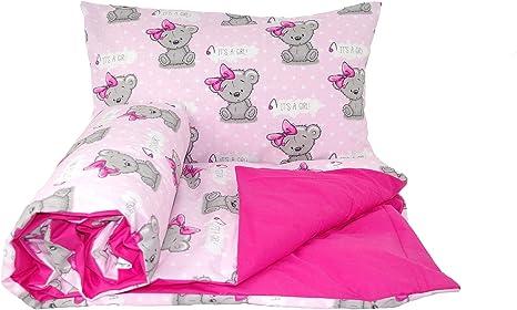 PILLOWCASE Babys Comfort REVERSIBLE 2pcs baby bedding set DUVET// QUILT COVER 70x80cm for cribs // prams // moses baskets, 23