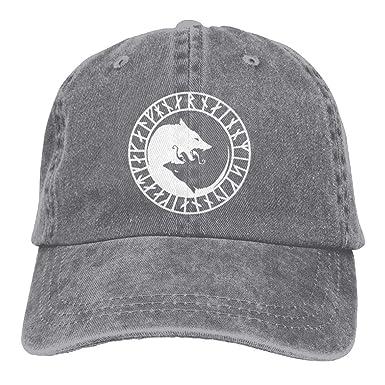 Odin Thor Viking Norse Wolf Mens   Womens Baseball Hat Vintage Denim  Snapback Hat be0ac5b7d