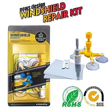Kit de reparación de parabrisas, herramientas para eliminar grietas, lascas, ojos de buey o estrellas: Amazon.es: Coche y moto