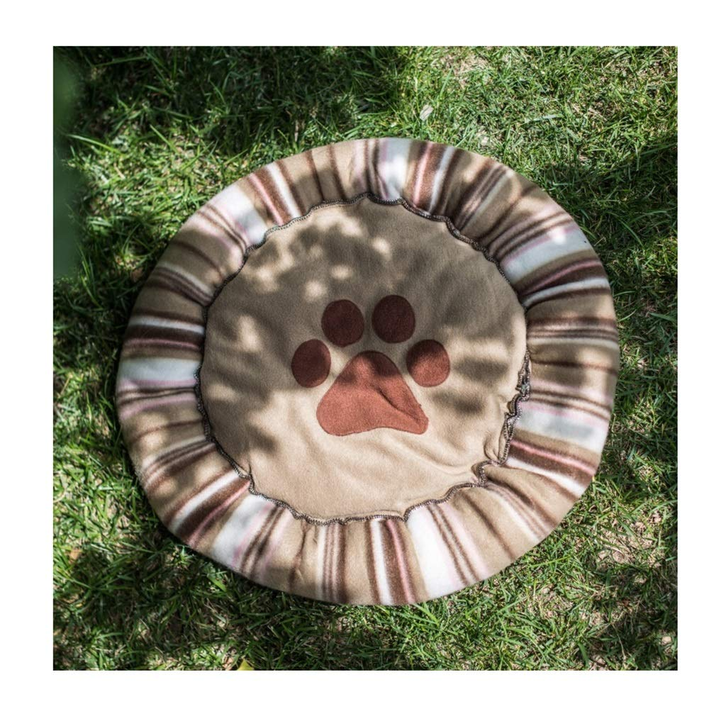 4  60cm in diameterDSADDSD Pet Bed Warm Sleeping Mat Sofa Mattress Comfortable Outdoor And Indoor Pet Supplies (color   5 , Size   70cm in diameter)