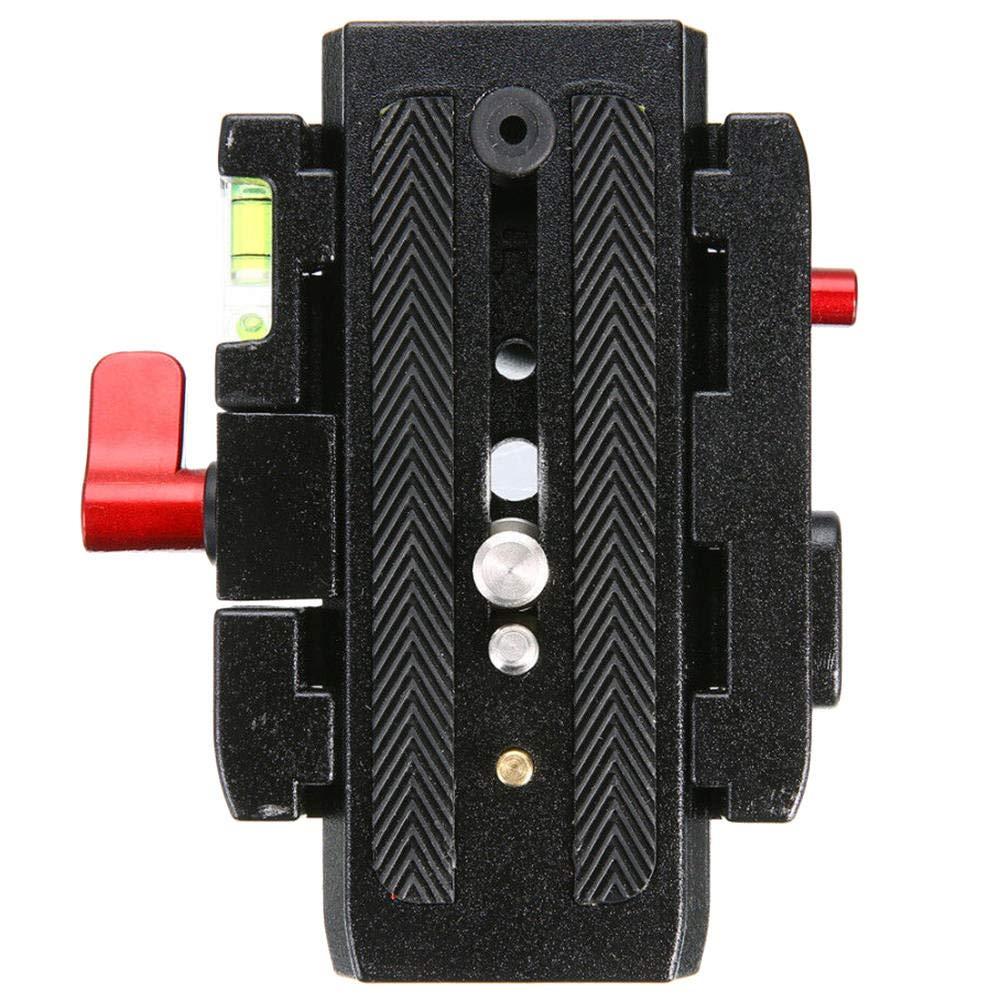 Lecimo Piastra A Sgancio Rapido per Fotocamera Nera Compatibile con Manfrotto P200