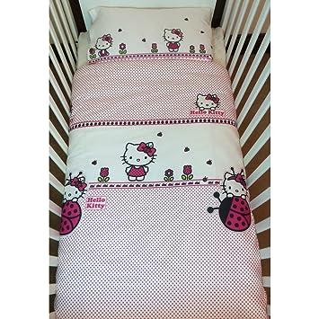 Hello Kitty Coccinelle Parure De Lit Pour Lit De Bebe Amazon Fr